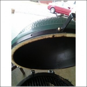 A shot of the BGE with gasket removed
